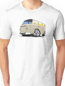 VW Bay Window Camper Van B Cream Unisex T-Shirt