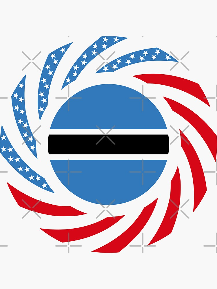 Botswana American Multinational Patriot Flag Series by carbonfibreme