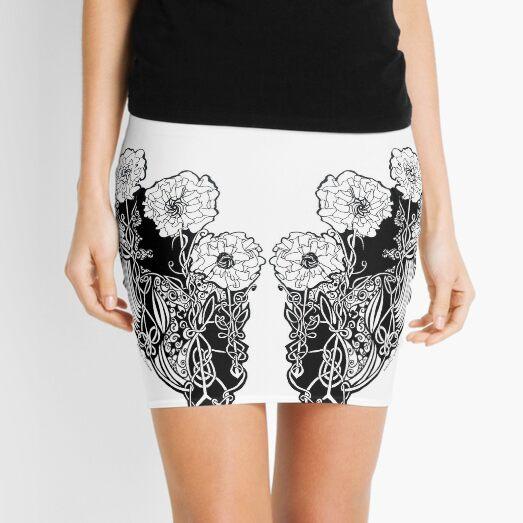 Celtic Poppy Design Mini Skirt