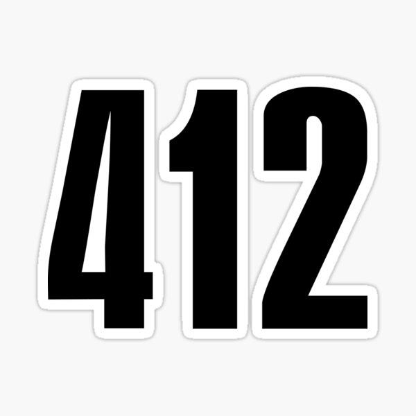 412 Pittsburg   Phone Area Code Shirts Sticker