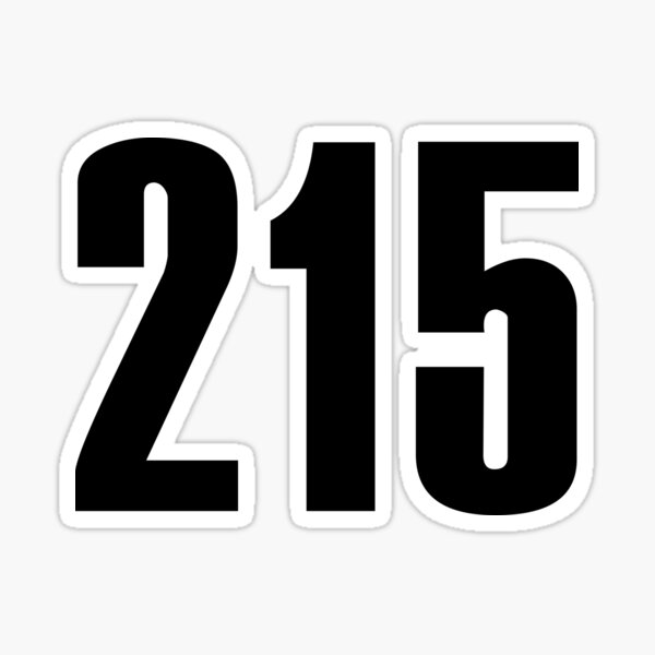 215 Philly   Phone Area Code Shirts Sticker