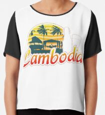 Cambodia Traveller Travelling Gift For Men And Women Chiffon Top