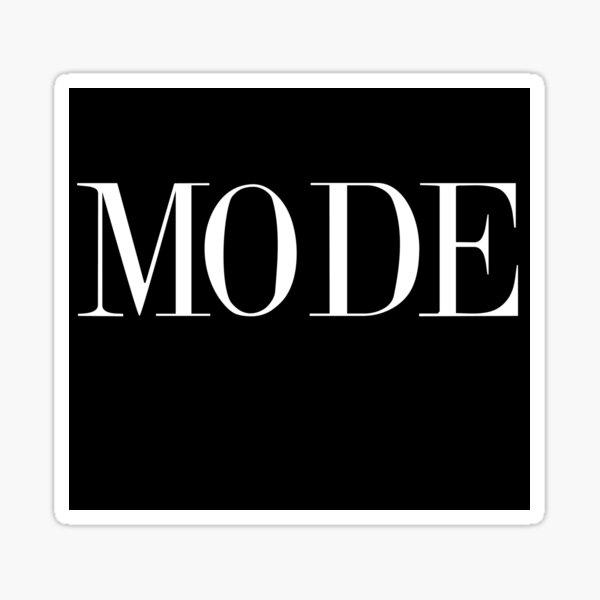 MODE - Ugly Betty (black) Sticker