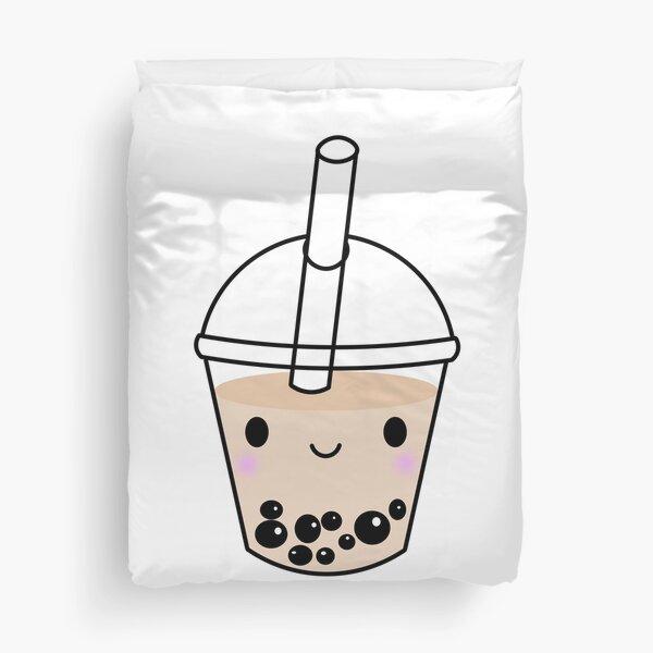 Kawaii Boba or Cute Bubble Tea  Duvet Cover