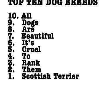 Top Ten Dog Breeds – Scottish Terrier by BonniePortraits