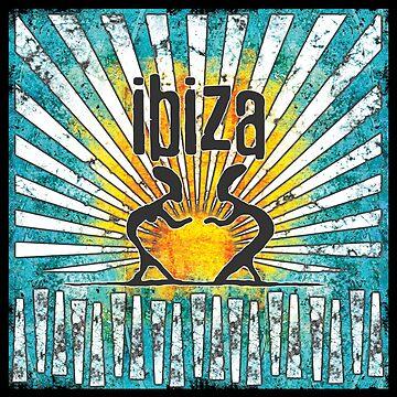 Ibiza Sonne style vintage von Periartwork
