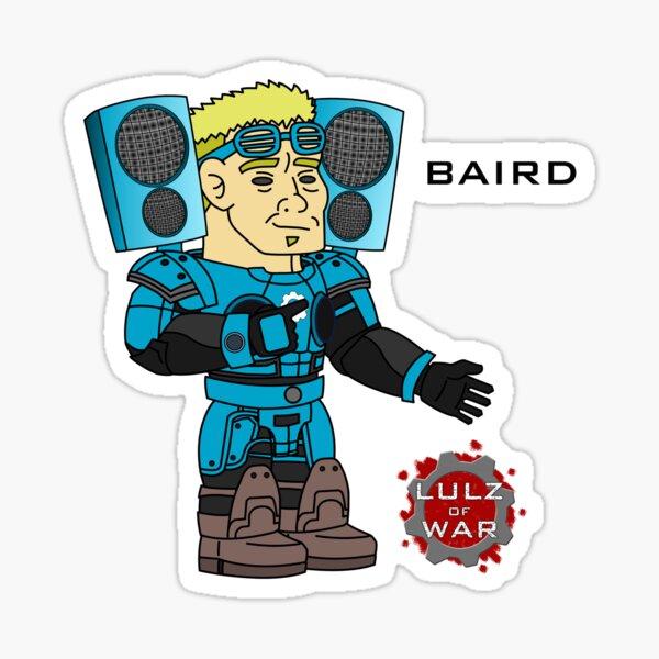 Lulz Of War: Victory Music Baird Sticker