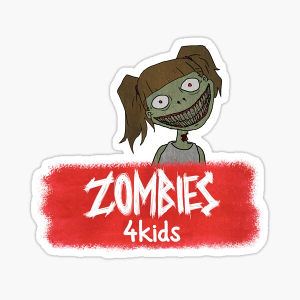 "Girly Zombie from ""Zombies4Kids"" Sticker"