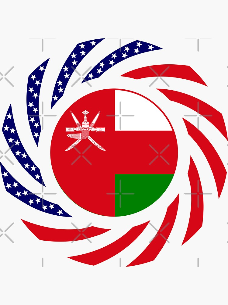 Omani American Multinational Patriot Flag Series by carbonfibreme
