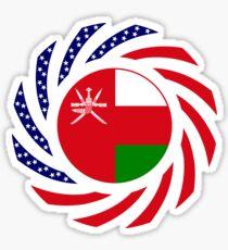 Omani American Multinational Patriot Flag Series Sticker