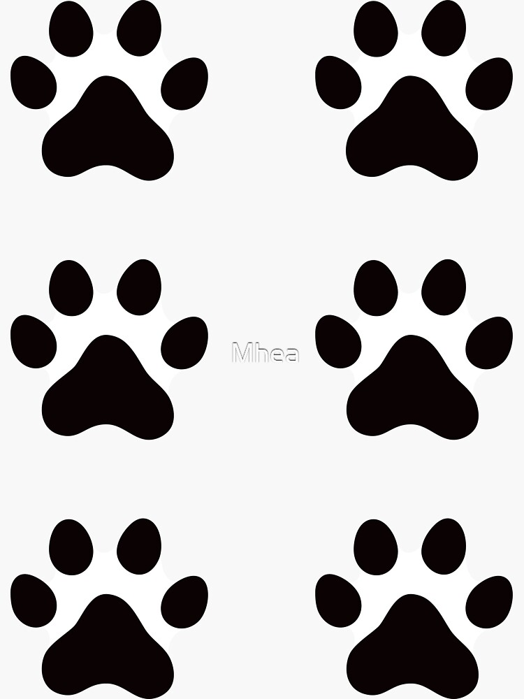 Pawprint stickers by Mhea