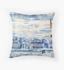 lisbon mosaic Throw Pillow