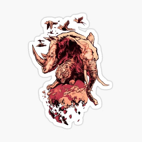 Extinction Red Sticker