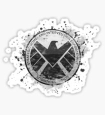 S.H.I.E.L.D Emblem (in gray with white background) Sticker