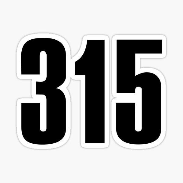 315 Syracuse   Phone Area Code Shirts Stickers Sticker