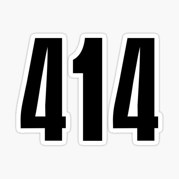 414 Milwaukee   Phone Area Code Shirts Stickers Sticker