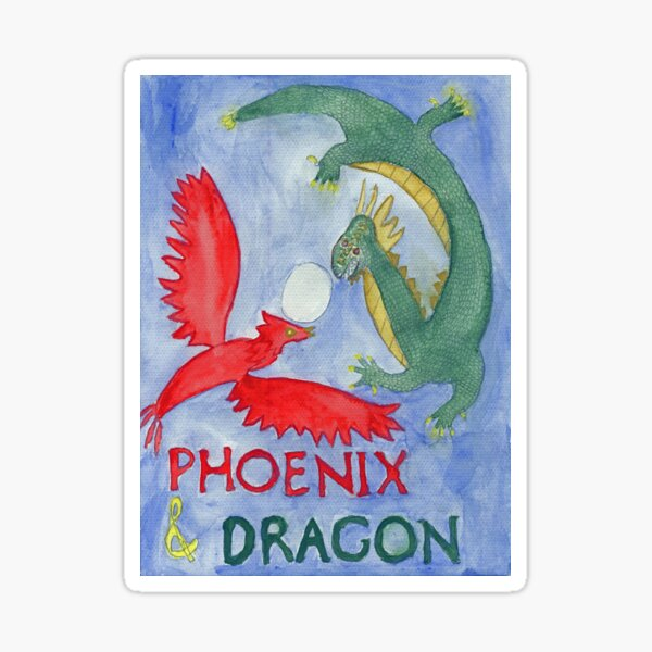 Phoenix and Dragon Sticker