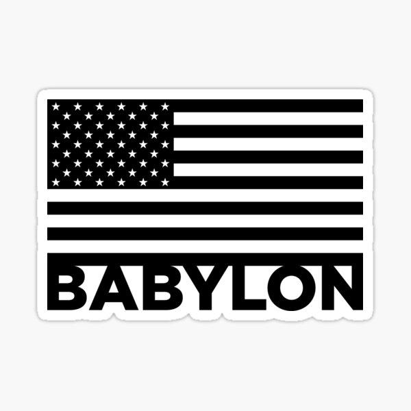 BABYLON FLAG BLK Sticker
