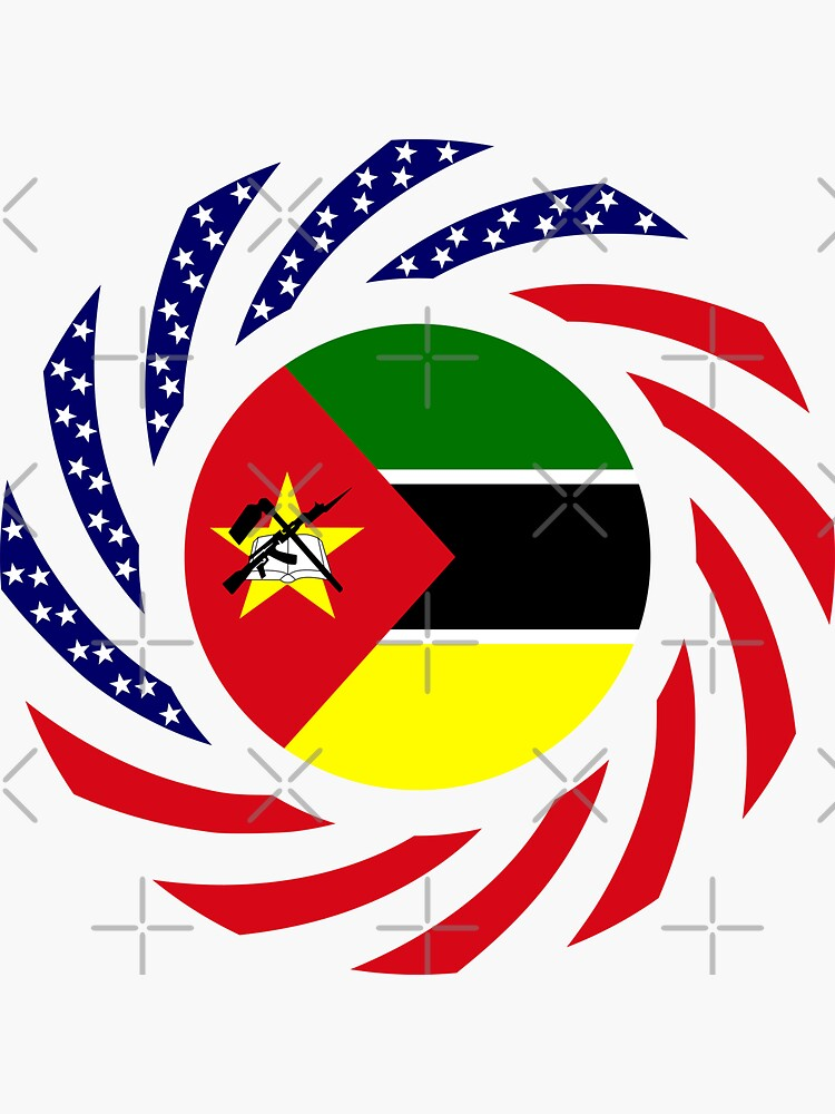 Mozambican American Multinational Patriot Flag Series by carbonfibreme