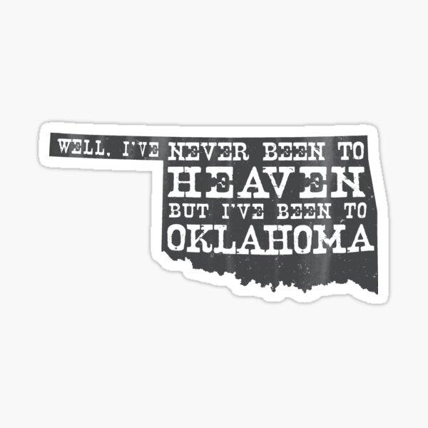 Oklahoma Heaven - gray Sticker