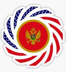 Montenegrin American Multinational Patriot Flag Series Sticker