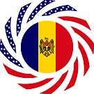 Moldovan American Multinational Patriot Flag Series by Carbon-Fibre Media