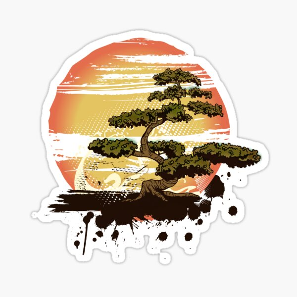 Bonsai Tree Karate Dojo Sticker By Maniacreations Redbubble