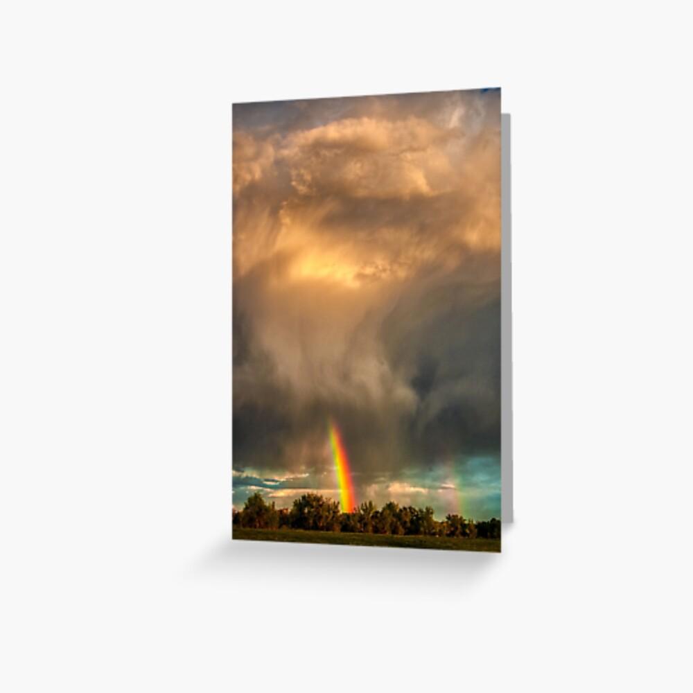Storm Cloud Sprays a Rainbow Greeting Card