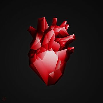 ruby red heart by neographics