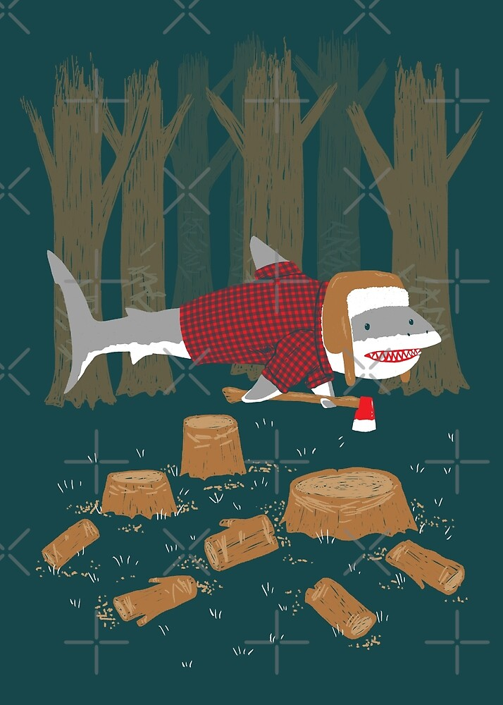 LumberJack Shark by nickv47