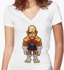 Sagat v.2 Women's Fitted V-Neck T-Shirt