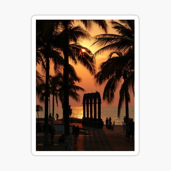 pictures of a sunset I - imagenes de una puesta del sol Sticker