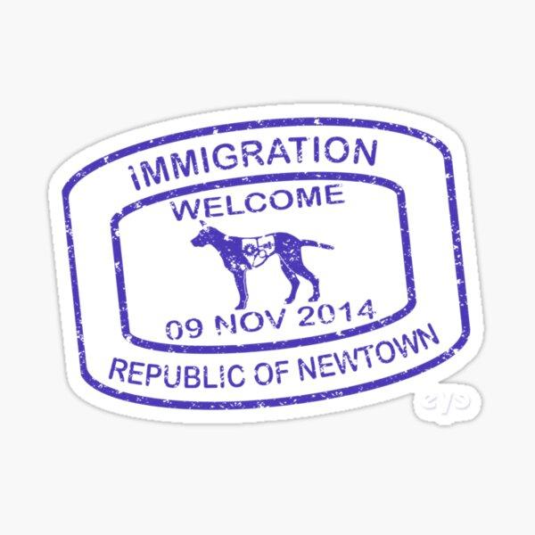 Republic of Newtown - 2014: Blue Sticker