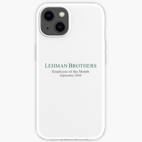 Lehman Brothers Political Humor iPhone Soft Case
