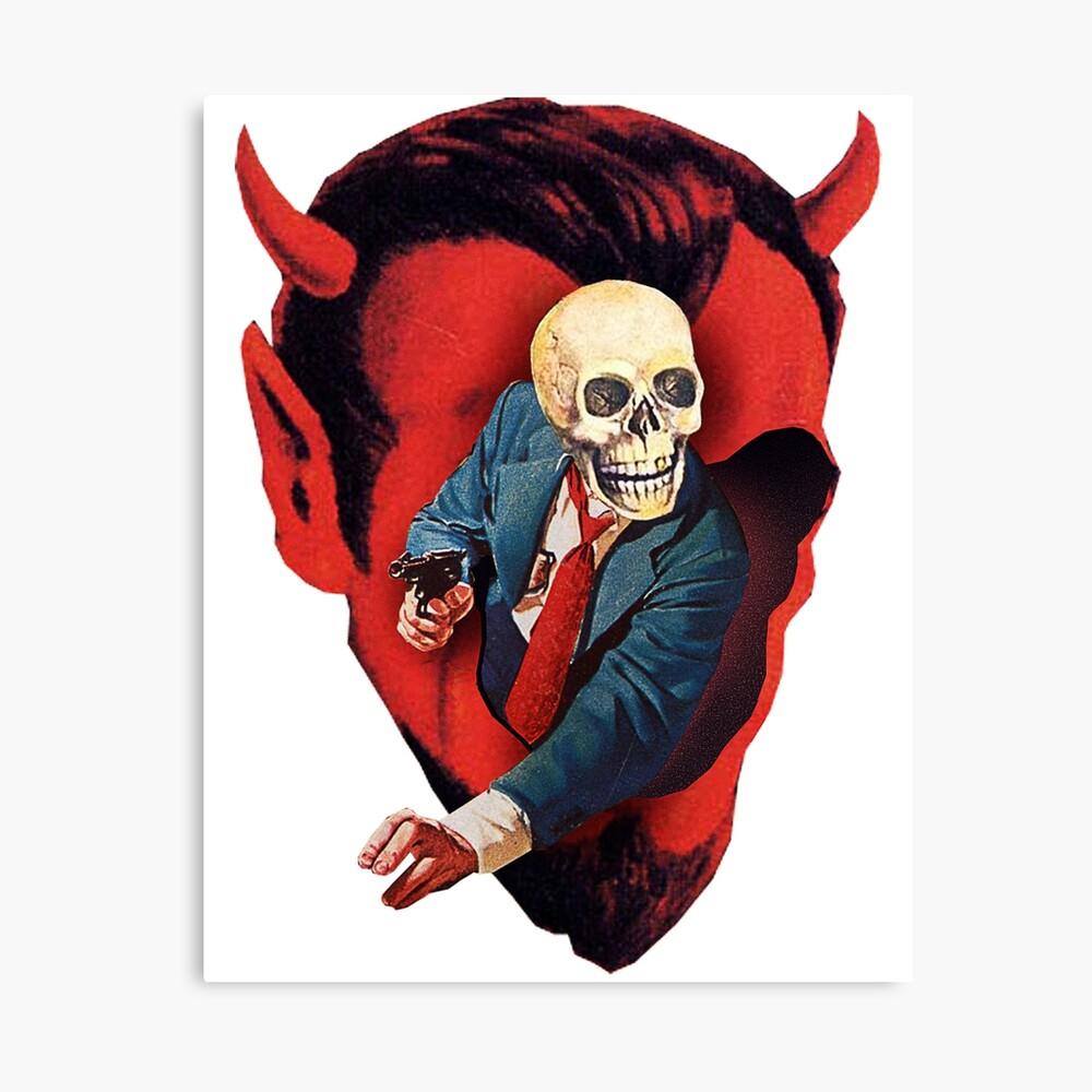 Devilhead Skullman Canvas Print