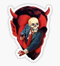 Devilhead Skullman Sticker