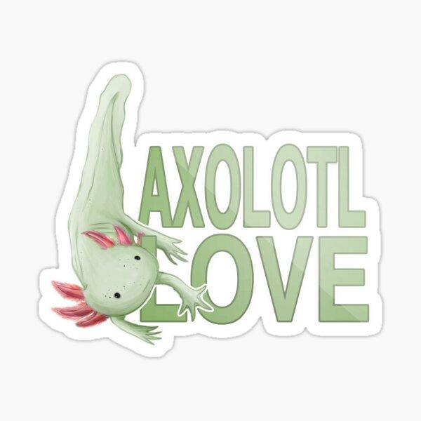 Axolotl Love- Green Sticker