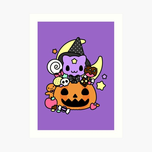 Trick or Treat Kitty Art Print