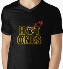 Heiße Einsen T-Shirt mit V-Ausschnitt