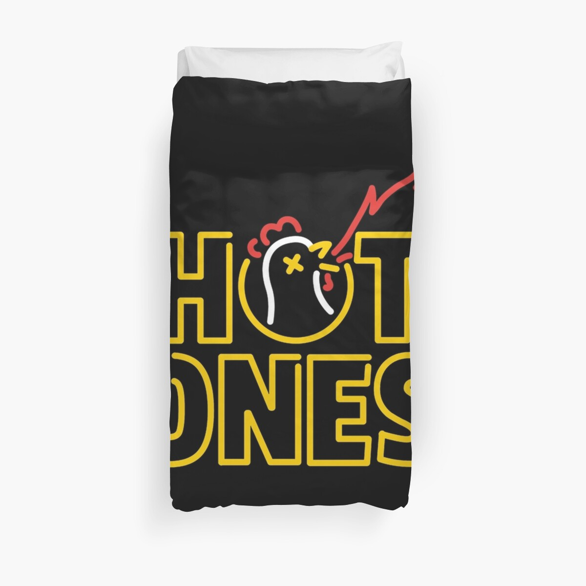 Hot Ones Duvet Cover by Angela Reyes Gomez