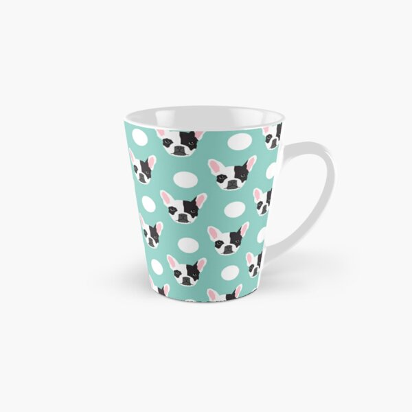French Bulldog pattern polka dogs dog head funny dog meme cute gift for a dog lover frenchie owner Tall Mug