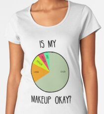 Camiseta premium para mujer Está bien mi maquillaje?