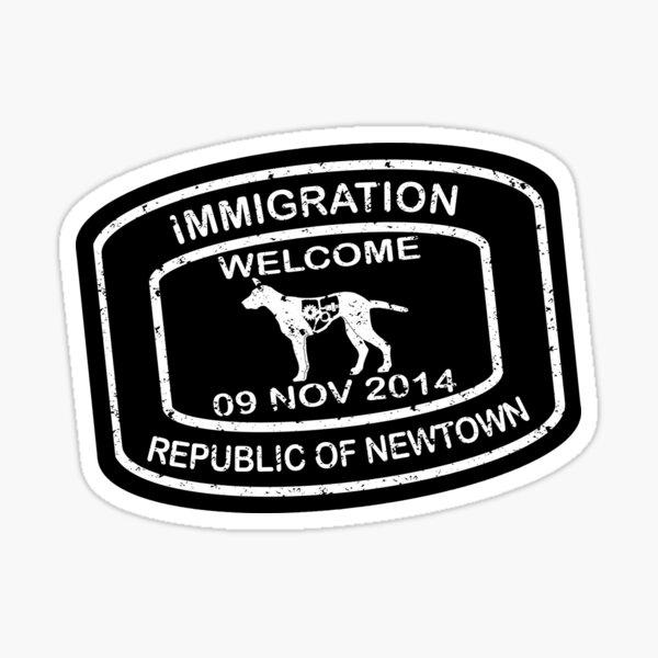 Republic of Newtown - 2014: Sticker White on Black Sticker