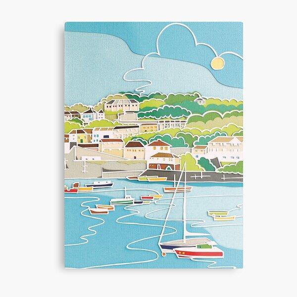 Sailing boats coastal decor Metal Print
