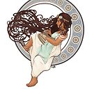 Steampunk Mucha Girl (with mouse) by Sophie Baer