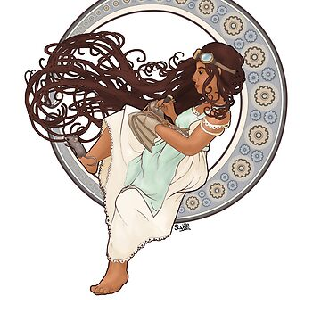 Steampunk Mucha Girl (with mouse) by sqbr