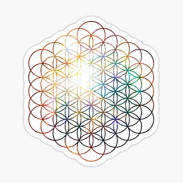 Heart of Orion Flower of Life | Sacred Geometry Sticker