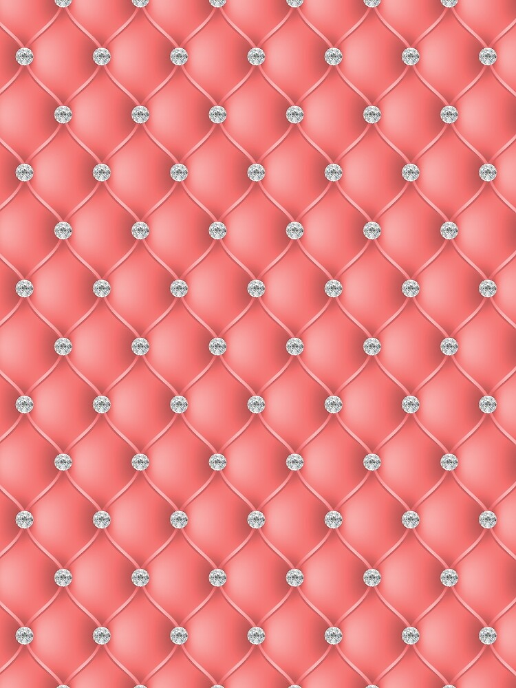 Elegant Salmon Orange Diamond Tufted Look Upholstery Pattern by jollypockets