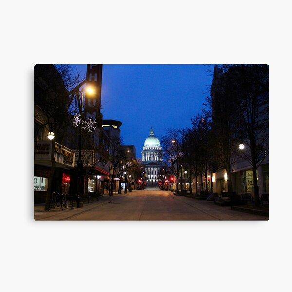 Madison, WI Capitol  Canvas Print