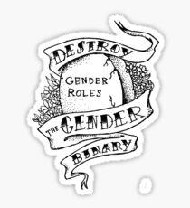 Pegatina destruir el binario de género!
